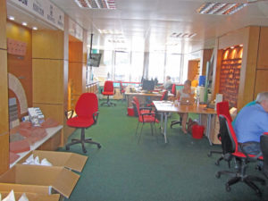 Spacious light are office space